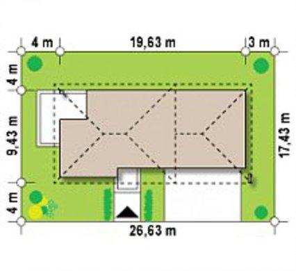 Проект сучасного двоповерхового будинку з гаражем в прибудові
