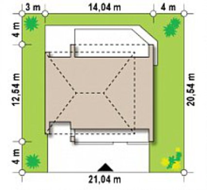 Проект для будівництва двоповерхового будинку