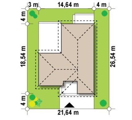 Проект одноповерхового будинку з великою терасою