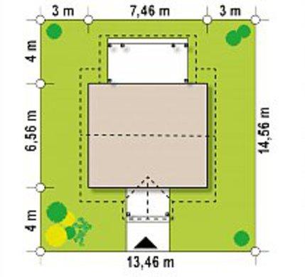 Проект затишного котеджу 35 m²