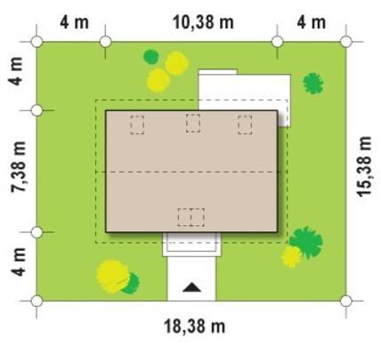 Проект будинку з мансардою для невеликої ділянки
