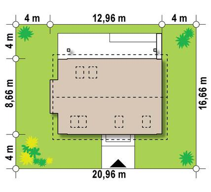 Проект невеликого привабливого котеджу для вузької ділянки