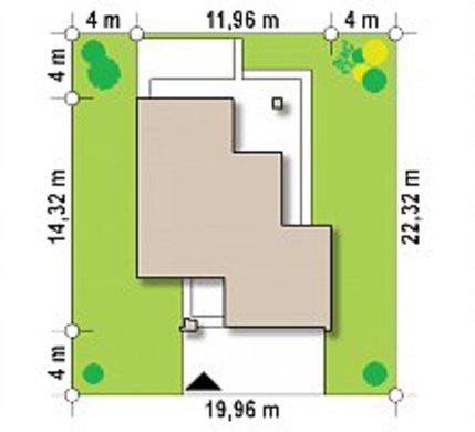 Проект двоповерхового котеджу з великими панорамними вікнами і просторою терасою