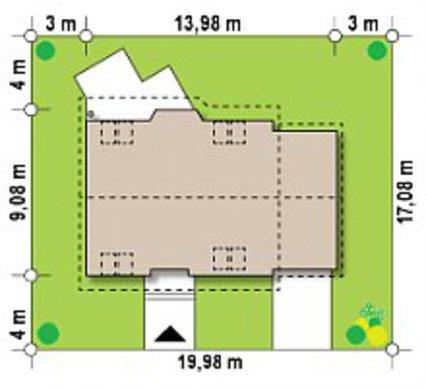 Проект двоповерхового заміського котеджу 9 на 14