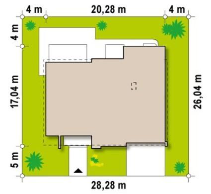 Проект вишуканого сучасного особняка зі здвоєним гаражем