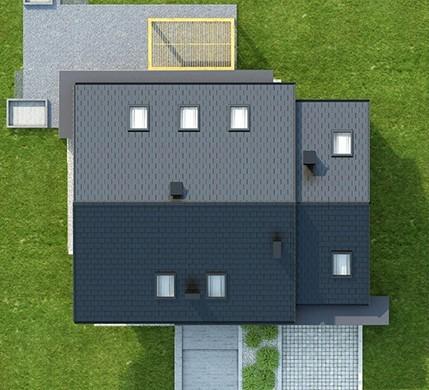 Житловий будинок з мансардою на три спальні