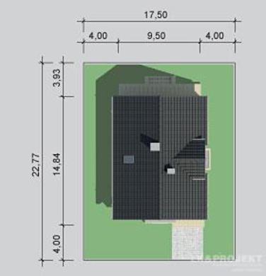 Проект двоповерхового житлового будинку для великої родини