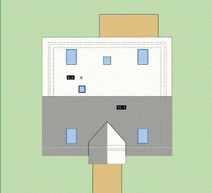 Зразковий житловий будинок з напівзакритим балконом