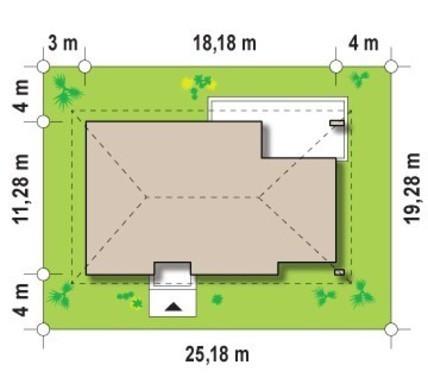 Проект елегантного котеджу з трьома спальнями