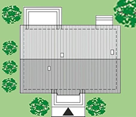 Стильний одноповерховий будинок з цегляним декором