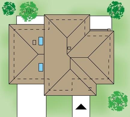 Просторий класичний житловий будинок з кабінетом