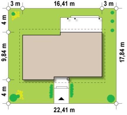 Проект одноповерхового котеджу з горищем