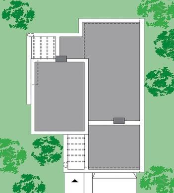 Сучасний одноповерховий будинок з зоною для барбекю
