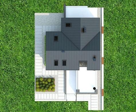 Двоповерховий котедж з відкритими терасами і верандами