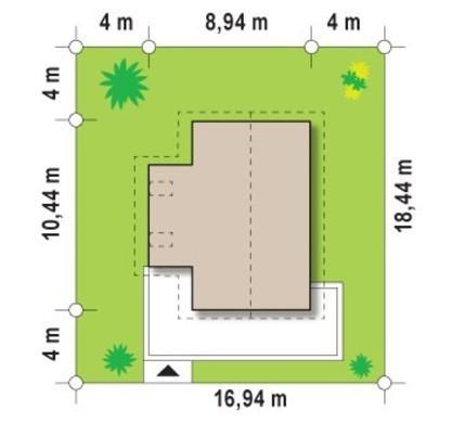 Двоповерховий котедж для вузької ділянки