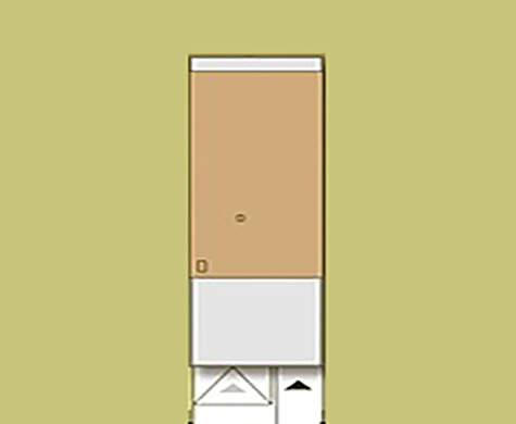 Планування двоповерхового будинку для вузької ділянки