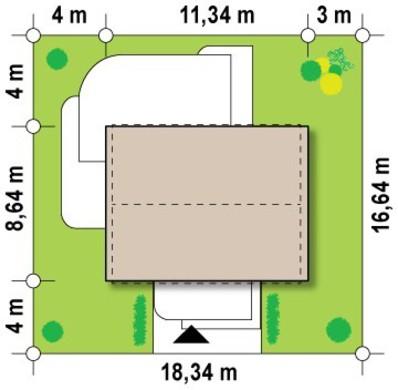 Проект сучасного одноповерхового приватного котеджу