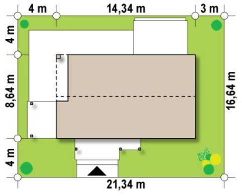 Проект невеликого сучасного одноповерхового будинку