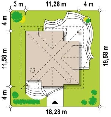 Проект котеджу з балконами