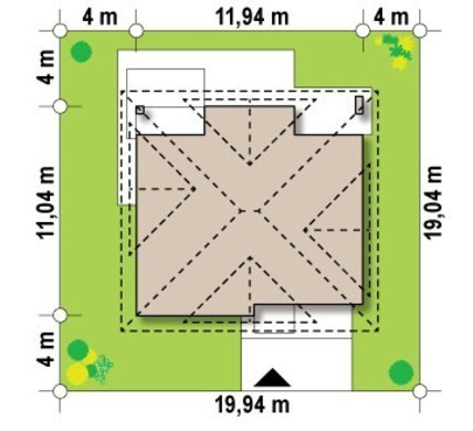 Проект будинку з гаражем 11 на 11