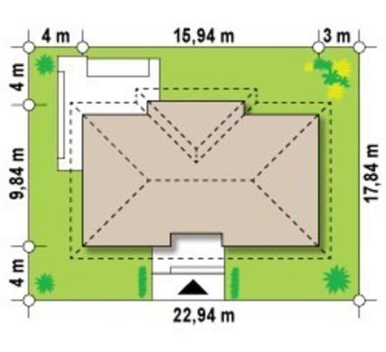 Проект класичного одноповерхового будинку