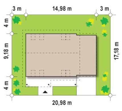 Проект будинку з великою терасою на другому поверсі