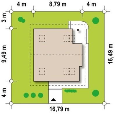 Проект двоповерхового будинку з панорамним склінням 9 на 9