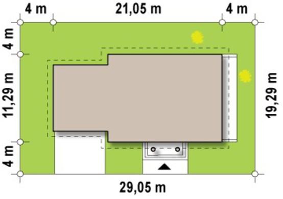 Проект особняка з гаражем для двох авто