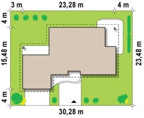 Проект будинку з гаражем для двох машин
