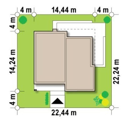 Проект одноповерхового будинку з плоским дахом