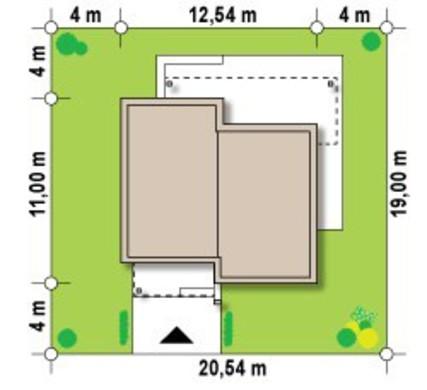 Проект сучасного одноповерхового котеджу