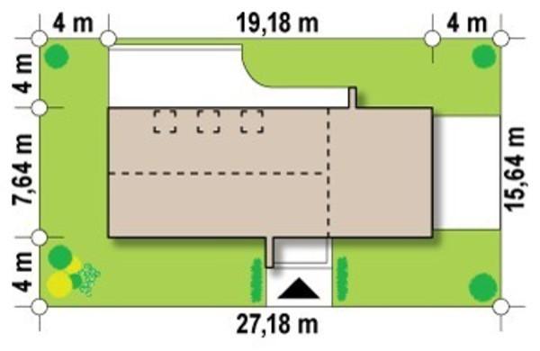 Проект сучасного будинку для вузької ділянки