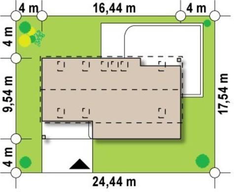 Проект просторого котеджу з мансардою та гаражем