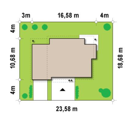 Проект двоповерхового класичного котеджу з гаражем