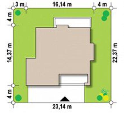 Проект великого двоповерхового будинку з вбудованою сауною
