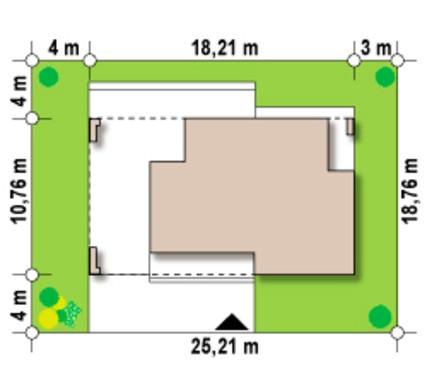 Проект невеликого одноповерхового будинку хай - тек з гаражем на одну машину