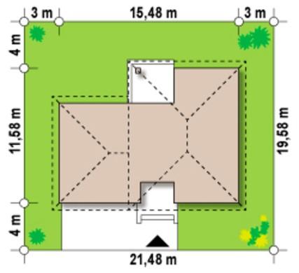 Проект класичного 2х поверхового будинку з гаражем на два автомобіля