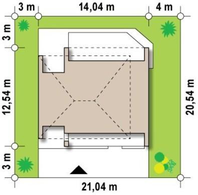 Проект двоповерхового котеджу з великими вікнами