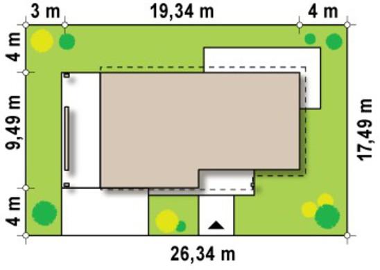 Проект двоповерхового заміського котеджу з великою терасою