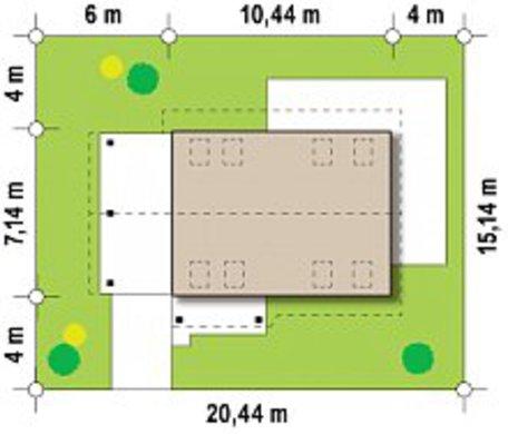 Проект невеликого акуратного заміського котеджу з мансардою