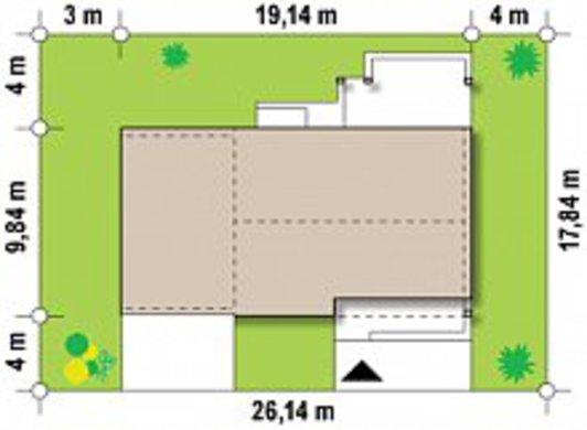 Проект сучасного дачного будинку по типу 4M272 з гаражем