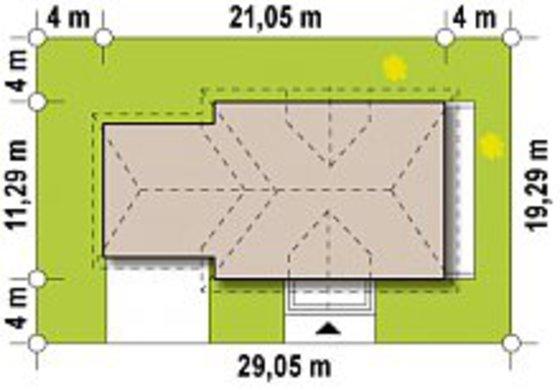 Проект комфортного особняка з просторою мансардою