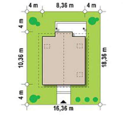 Проект будинку з мансардою на 130 m²