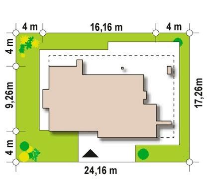 Елегантний сучасний одноповерховий будинок