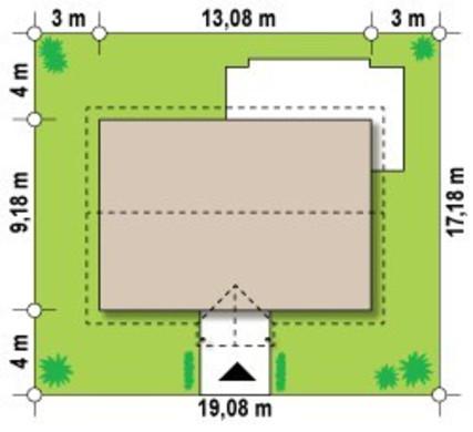 Проект класичного котеджу розмірами 10 на 10 метрів