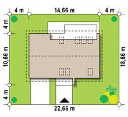 Проект будинку з просторою мансардою в європейському стилі