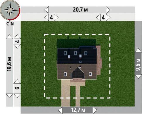 Просторий котедж в два поверхи з кутовим еркером