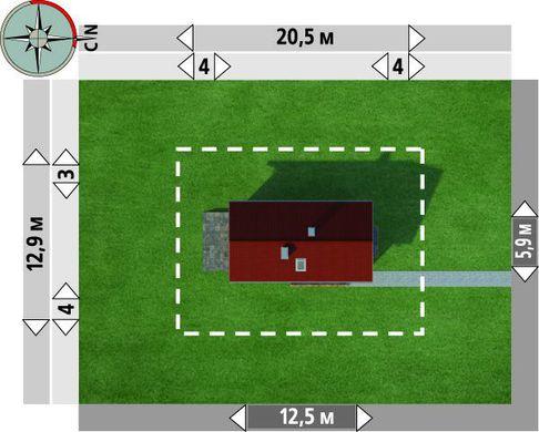 Проект будинку для вузької ділянки 12 на 6