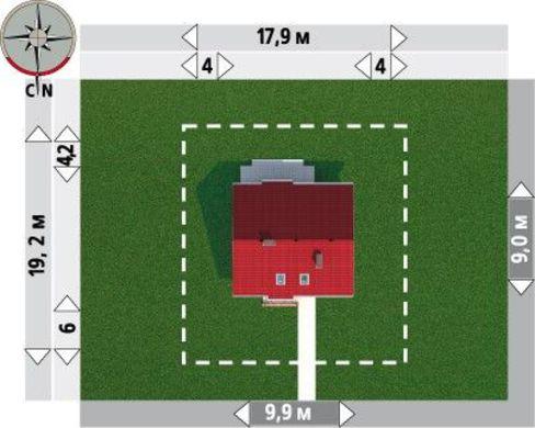 Проект мансардного будинку 140 m²