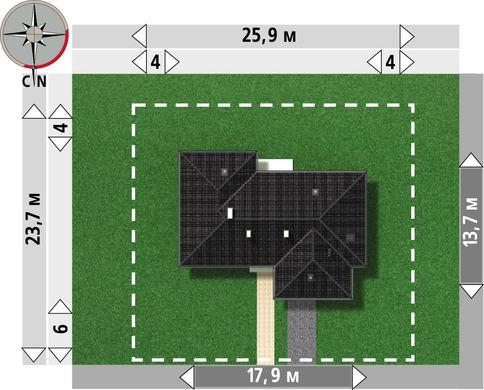Проект заміського котеджу з невеликою площею 144 m²